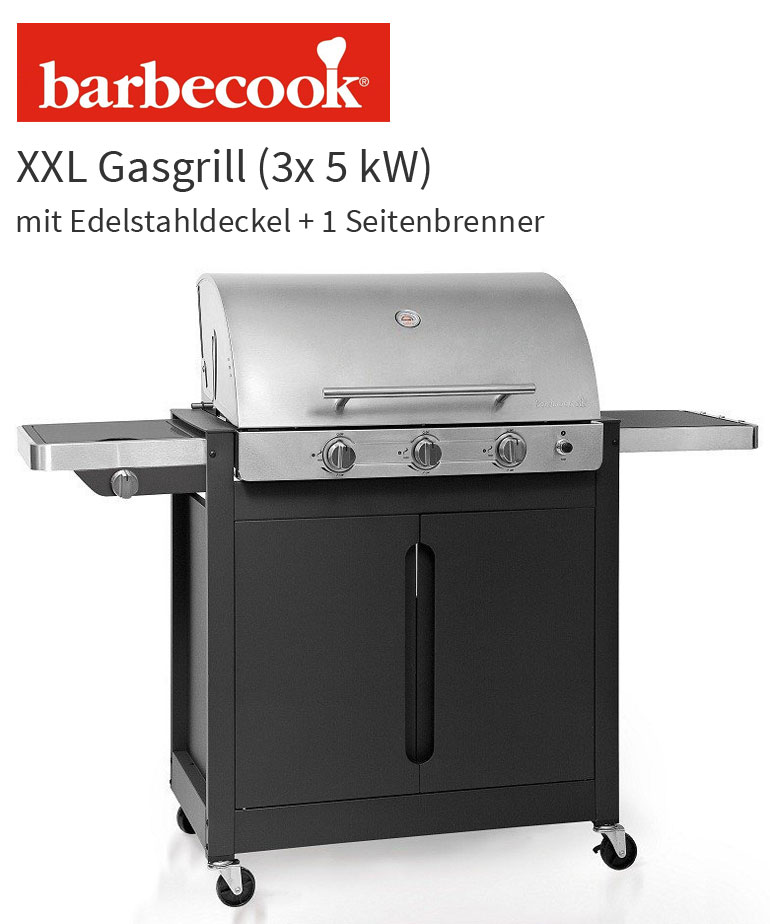 barbecook brahma 4 2 inox xxl gasgrill edelstahl deckel. Black Bedroom Furniture Sets. Home Design Ideas