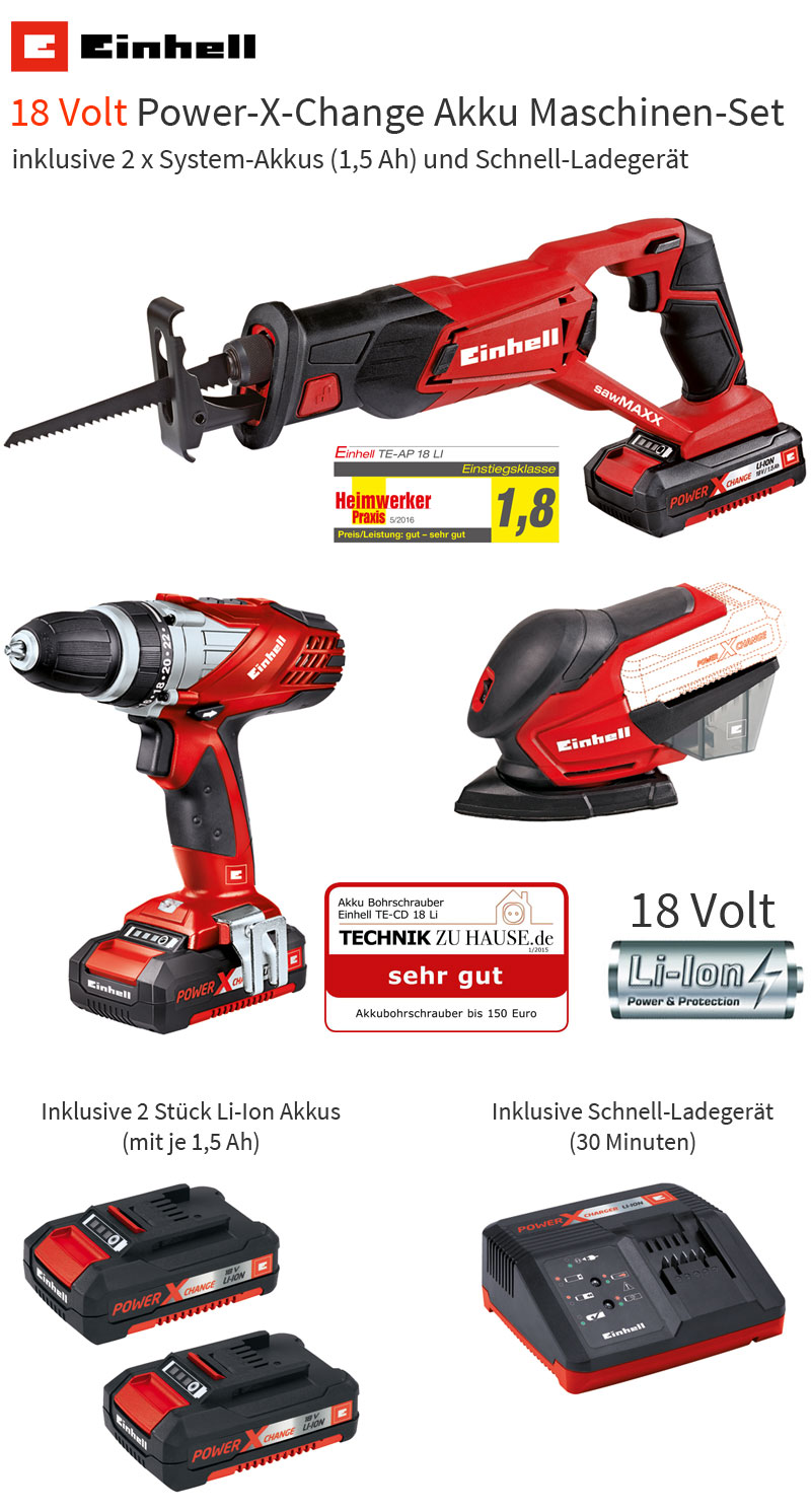 einhell 18 volt power x change werkzeug akkuschrauber s bels ge multischleifer ebay. Black Bedroom Furniture Sets. Home Design Ideas