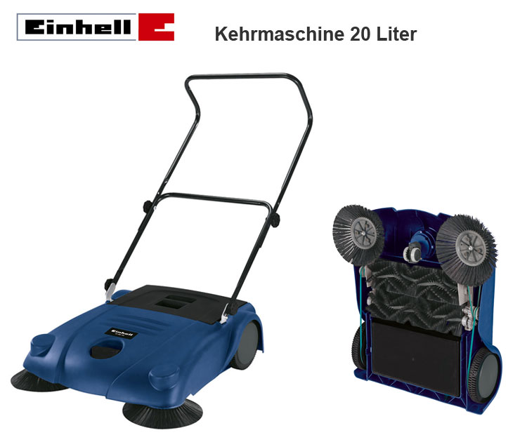einhell 70 cm fahrbare hand kehrmaschine mit 2 seitenbesen. Black Bedroom Furniture Sets. Home Design Ideas