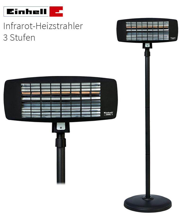 einhell ihs 2000 infrarot heizstrahler 2000 watt terrassenheizer garten heizung ebay. Black Bedroom Furniture Sets. Home Design Ideas