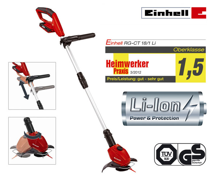 einhell 18 volt lithium ionen akku rasen trimmer elektro. Black Bedroom Furniture Sets. Home Design Ideas