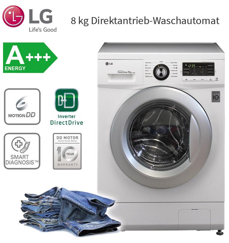 lg a 8 kg waschmaschine frontlader waschautomat aqua. Black Bedroom Furniture Sets. Home Design Ideas