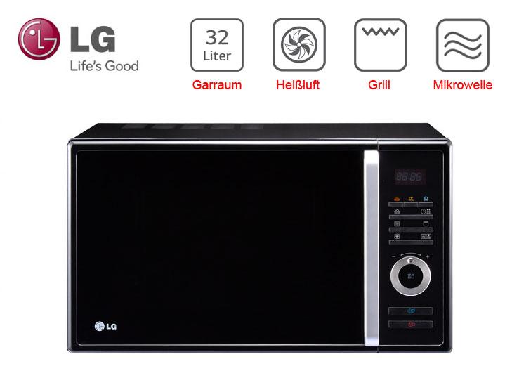 lg xxl heissluft mikrowelle grill digital display 32 liter umluft microwelle ebay. Black Bedroom Furniture Sets. Home Design Ideas