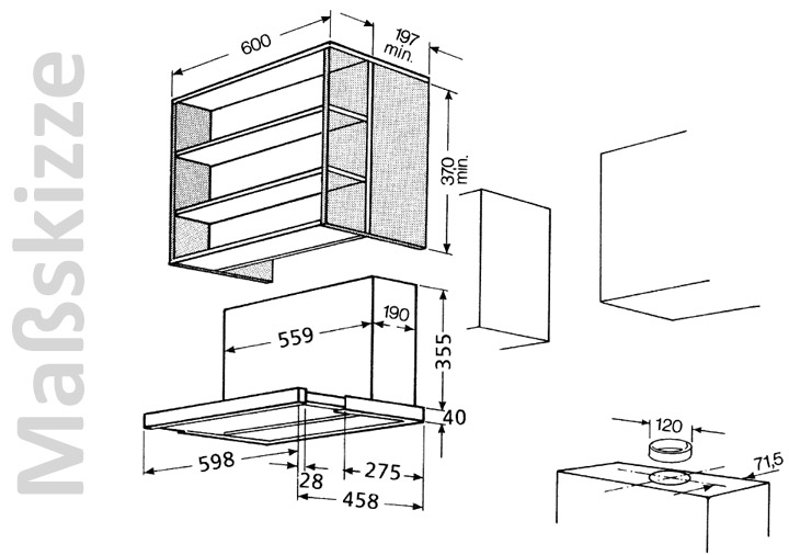 bauknecht dnhv 5460 sg flachschirmhaube 2 l ftermotoren 60 cm dunstabzugshaube 4011577656961. Black Bedroom Furniture Sets. Home Design Ideas