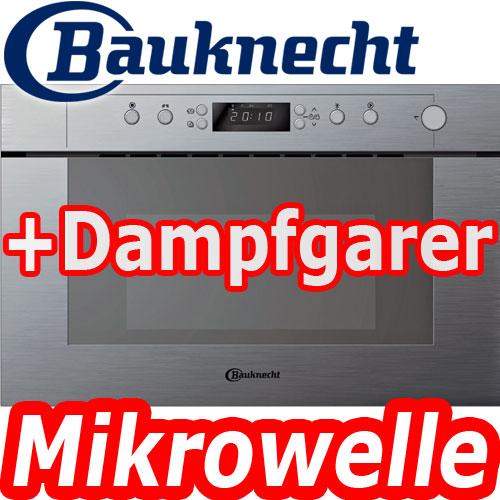 Bauknecht Emsp 9238 Pt Edelstahl Einbau Mikrowelle Dampfgarer 60