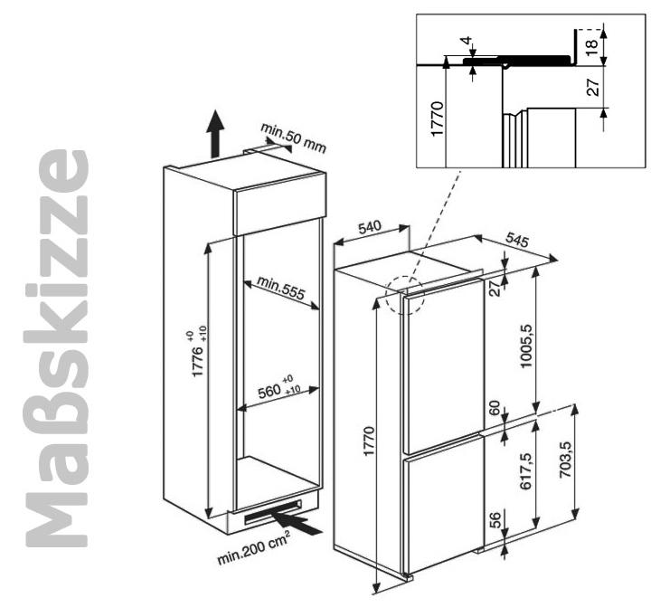 bauknecht kgi 1181 a k hl gefrierkombination 178 cm einbau k hlschrank ebay. Black Bedroom Furniture Sets. Home Design Ideas