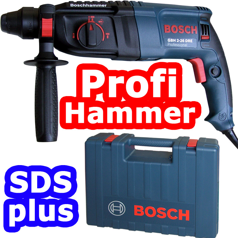 bosch gbh 2 26 dre professional bohrhammer sds plus kombi hammer bohrmaschine ebay. Black Bedroom Furniture Sets. Home Design Ideas