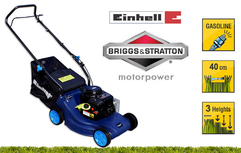 einhell 40 cm benzin rasenm her briggs stratton motor m her benzinrasenm her ebay. Black Bedroom Furniture Sets. Home Design Ideas