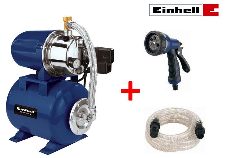 einhell bg ww 1038 n hauswasserwerk set wasserpumpe gartenpumpe pumpe wasser neu. Black Bedroom Furniture Sets. Home Design Ideas