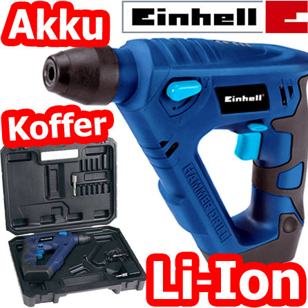 einhell 14 4 volt lithium ion akku bohrhammer koffer schlag bohrmaschine neu ebay. Black Bedroom Furniture Sets. Home Design Ideas