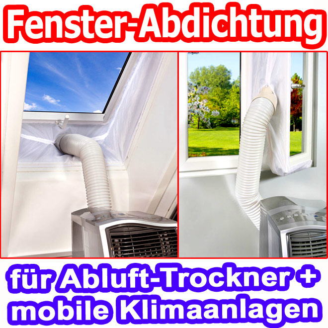 einhell fenster abdichtung f r abluftschlauch mobil klimager t klimanlange neu ebay. Black Bedroom Furniture Sets. Home Design Ideas