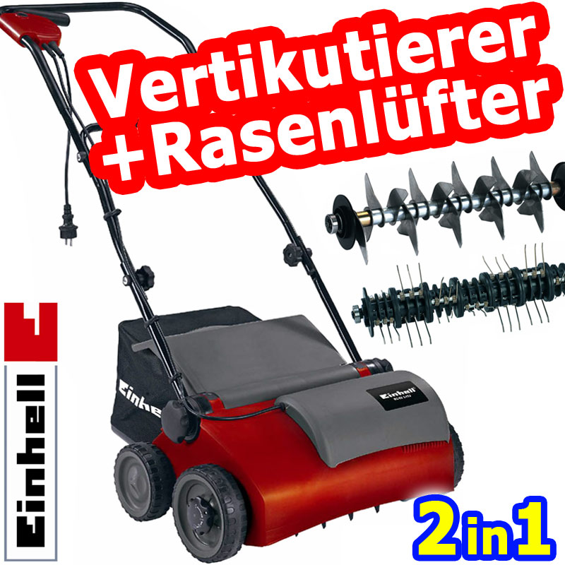 einhell rg sa 911 kombi elektro vertikutierer entmooser rasenl fter 2 walzen neu. Black Bedroom Furniture Sets. Home Design Ideas