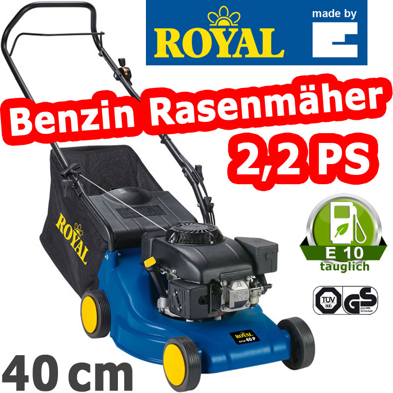 einhell royal rpm 40 p benzin rasenm her 2 2 ps 4 takt motor 45 liter fangsack ebay. Black Bedroom Furniture Sets. Home Design Ideas