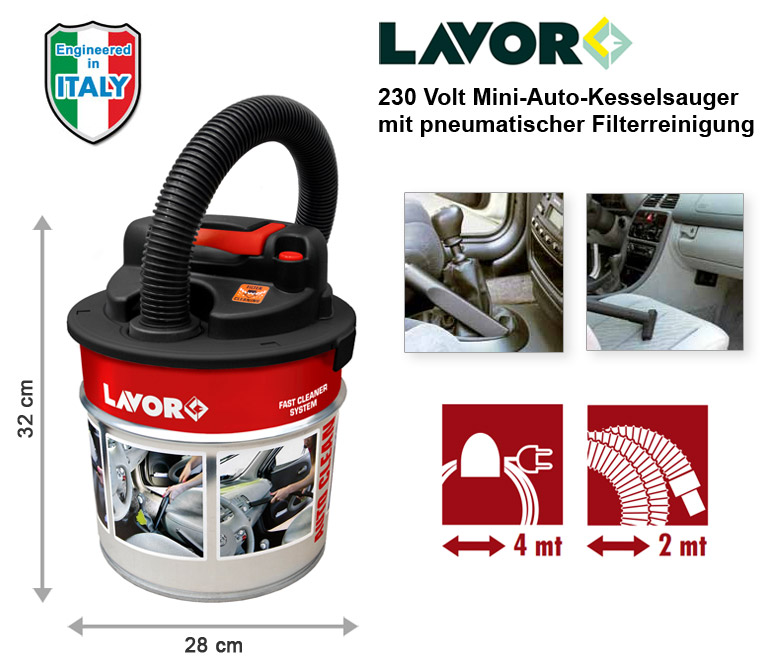 lavor auto clean 230v kfz pkw staubsauger handstaubsauger kesselsauger tragbar kaufen bei. Black Bedroom Furniture Sets. Home Design Ideas