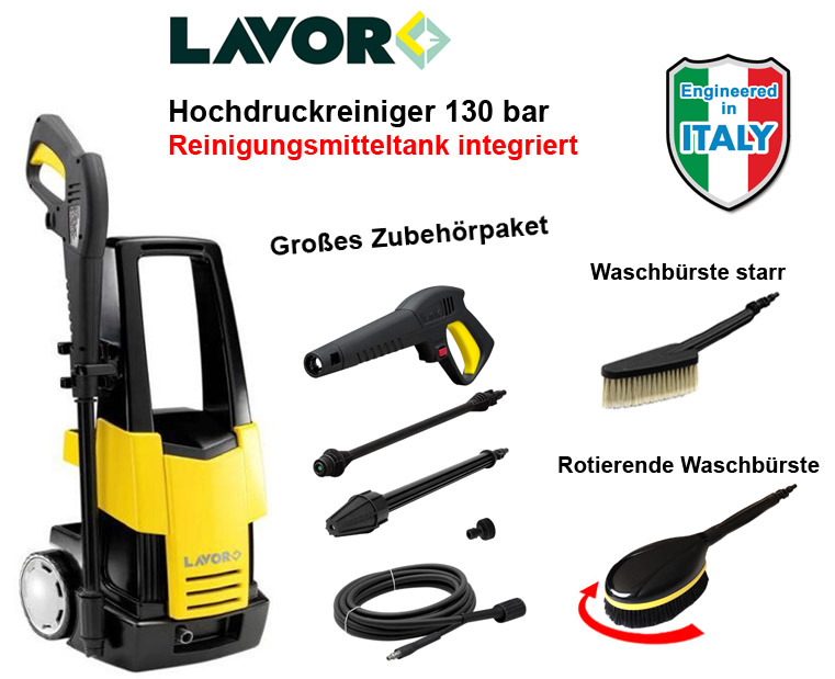 lavor 130 bar hochdruckreiniger 1800 watt dampfstrahler hoch druck reiniger neu ebay. Black Bedroom Furniture Sets. Home Design Ideas