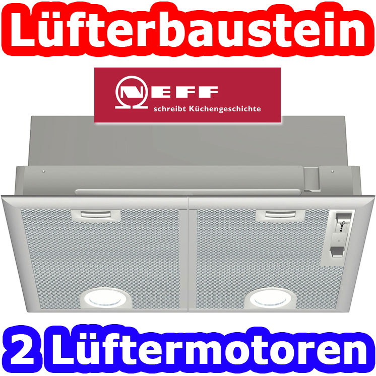 neff 50 cm einbau l fterbaustein dunstabzugshaube dunstabzug esse dunstesse top ebay. Black Bedroom Furniture Sets. Home Design Ideas