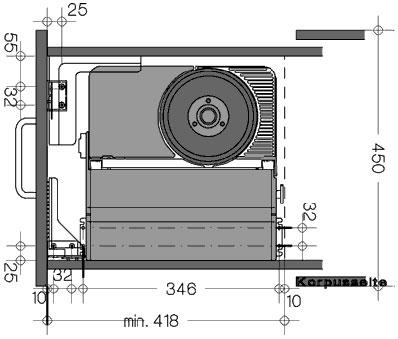 ritter aes 62 sr einbau schubladen allesschneider klappbar metall brotmaschine ebay. Black Bedroom Furniture Sets. Home Design Ideas