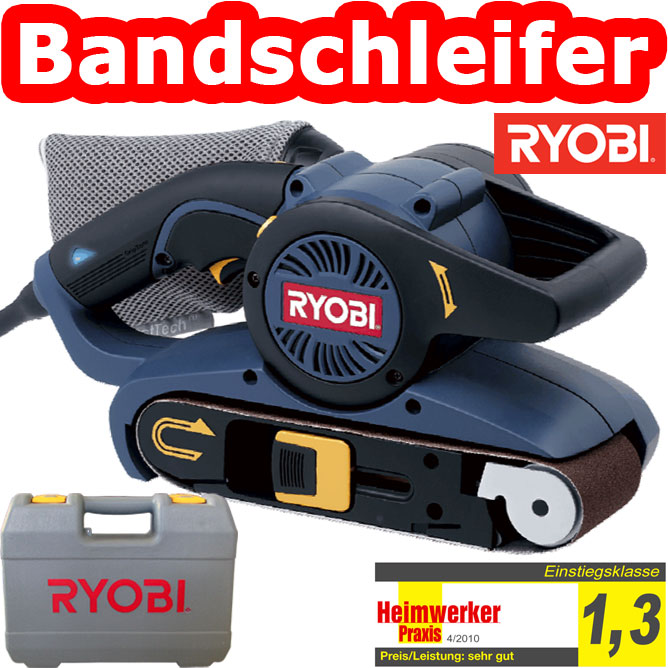 ryobi ebs 8021 v bandschleifer koffer bandschleifger t schleifmaschine schleifer ebay. Black Bedroom Furniture Sets. Home Design Ideas
