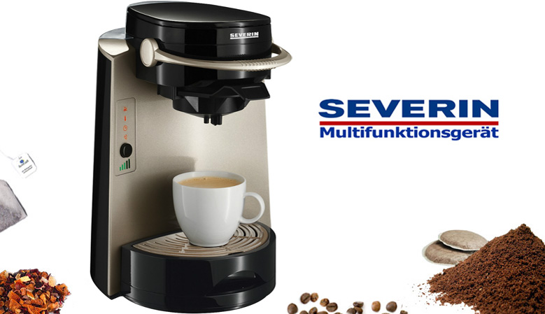 severin 4in1 kaffee maschine kaffeeautomat pad maschine. Black Bedroom Furniture Sets. Home Design Ideas