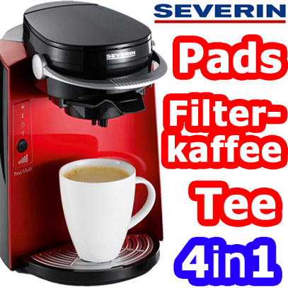 severin kaffeemaschine kaffee pad maschine 4in1 neu ovp ebay. Black Bedroom Furniture Sets. Home Design Ideas