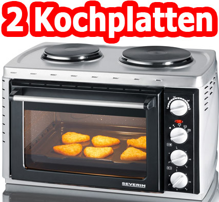 severin stand tisch backofen mini backofen kochfeld kochplatte herd neu ovp ebay. Black Bedroom Furniture Sets. Home Design Ideas
