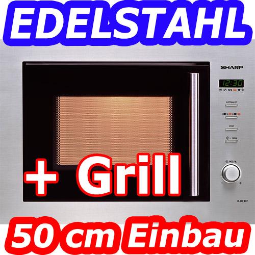 sharp r 61 fbst edelstahl einbau mikrowelle grill digital display 50 cm neu. Black Bedroom Furniture Sets. Home Design Ideas