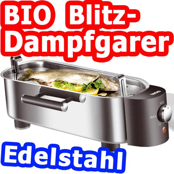 Unold edelstahl prof dampfgarer blitzdampfgarer dampfer ebay for Dampfgarer edelstahl