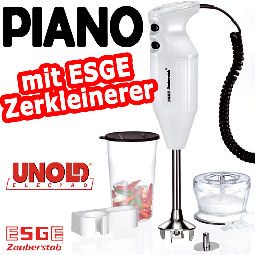unold esge zauberstab piano mit zerkleinerer mix stab mixer stabmixer p rierstab ebay. Black Bedroom Furniture Sets. Home Design Ideas