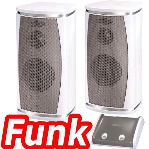 vivanco chs 5000 funk lautsprecher set wireless funkboxen boxen 2 4ghz schnurlos ebay. Black Bedroom Furniture Sets. Home Design Ideas