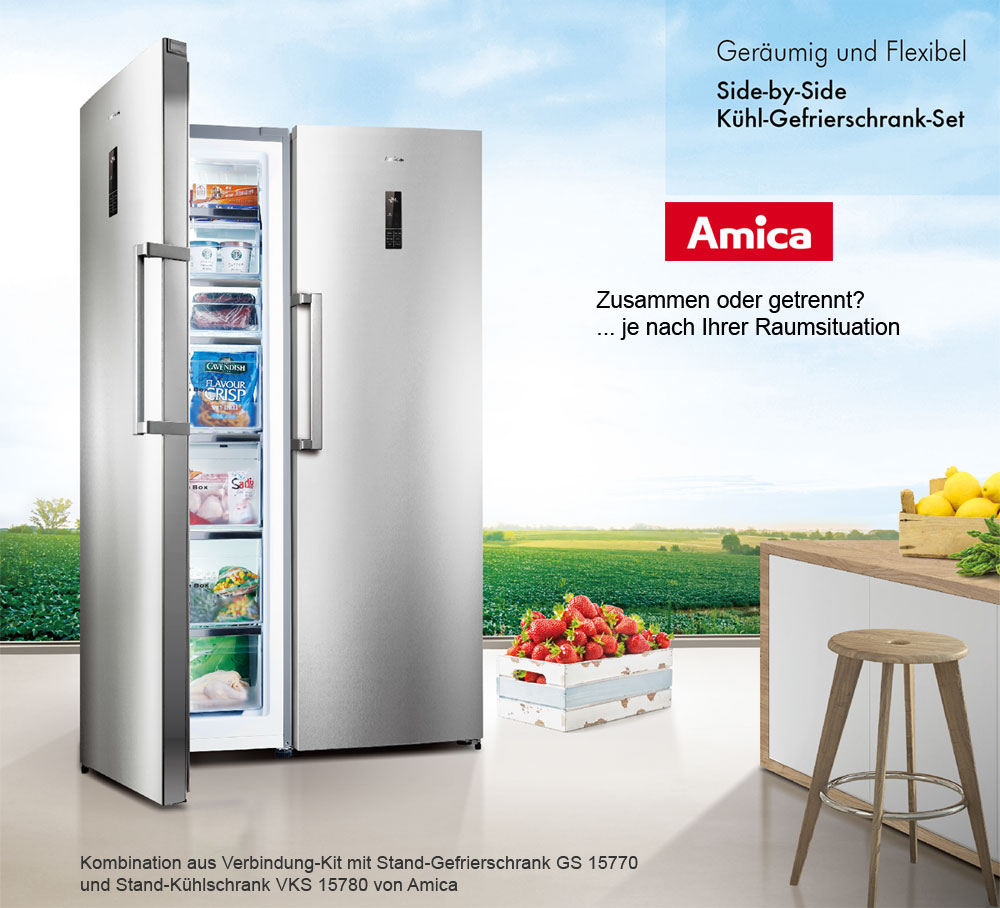 Amica 360 Liter XL Stand Kühlschrank A++ Vollraum Kühlgerät ...