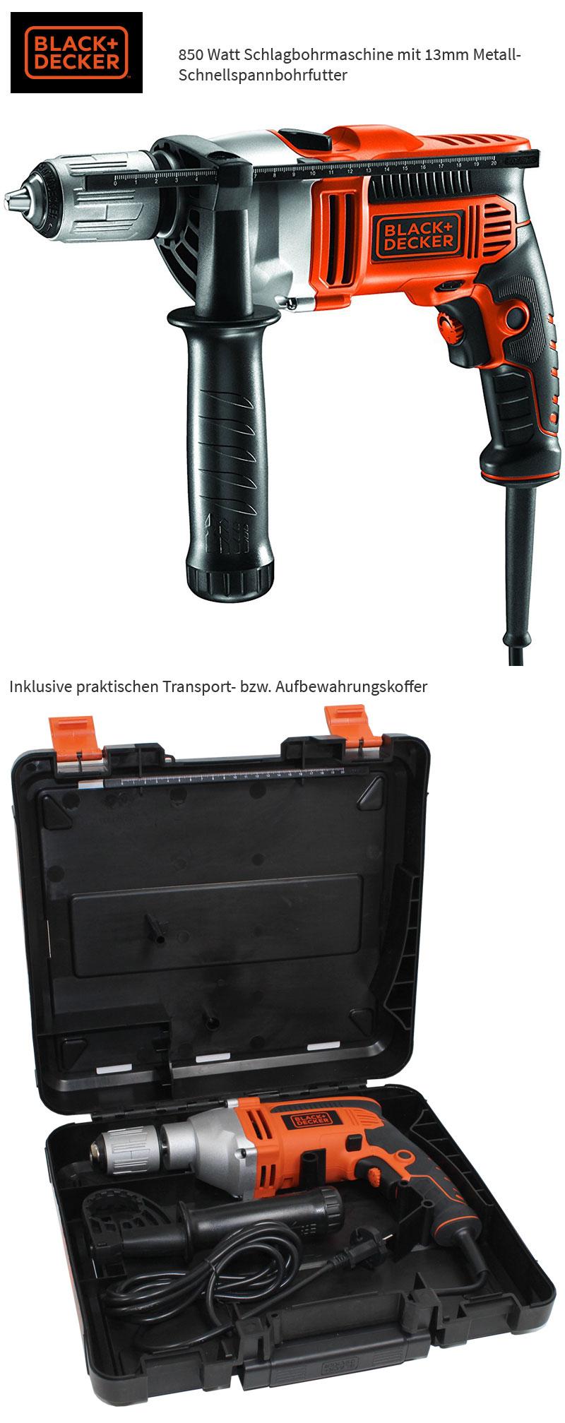 black decker kr 806 k qs schlag bohrmaschine inkl koffer 850 watt neu ovp ebay. Black Bedroom Furniture Sets. Home Design Ideas