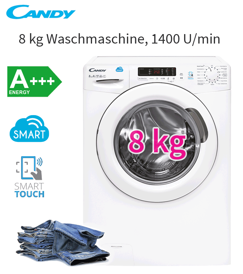 candy a 8 kg xl eco waschmaschine display nfc aquaprotect 1400 u waschautomat ebay. Black Bedroom Furniture Sets. Home Design Ideas