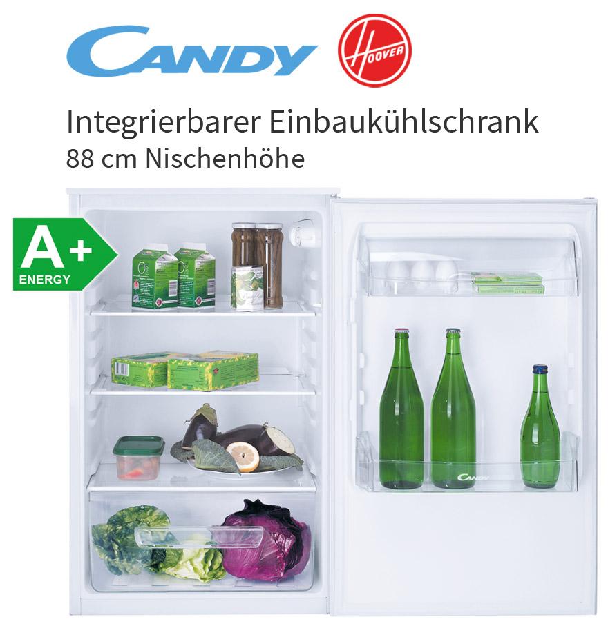 Candy Hoover 88 Cm A+ Vollraum Einbau Kühlschrank Ohne Gefrierfach  Integrierbar