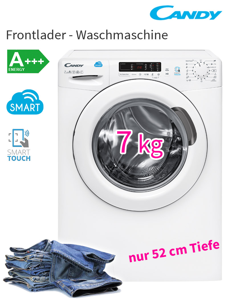 candy a 7 kg waschmaschine edelstahl trommel led display nfc smart touch neu ebay. Black Bedroom Furniture Sets. Home Design Ideas