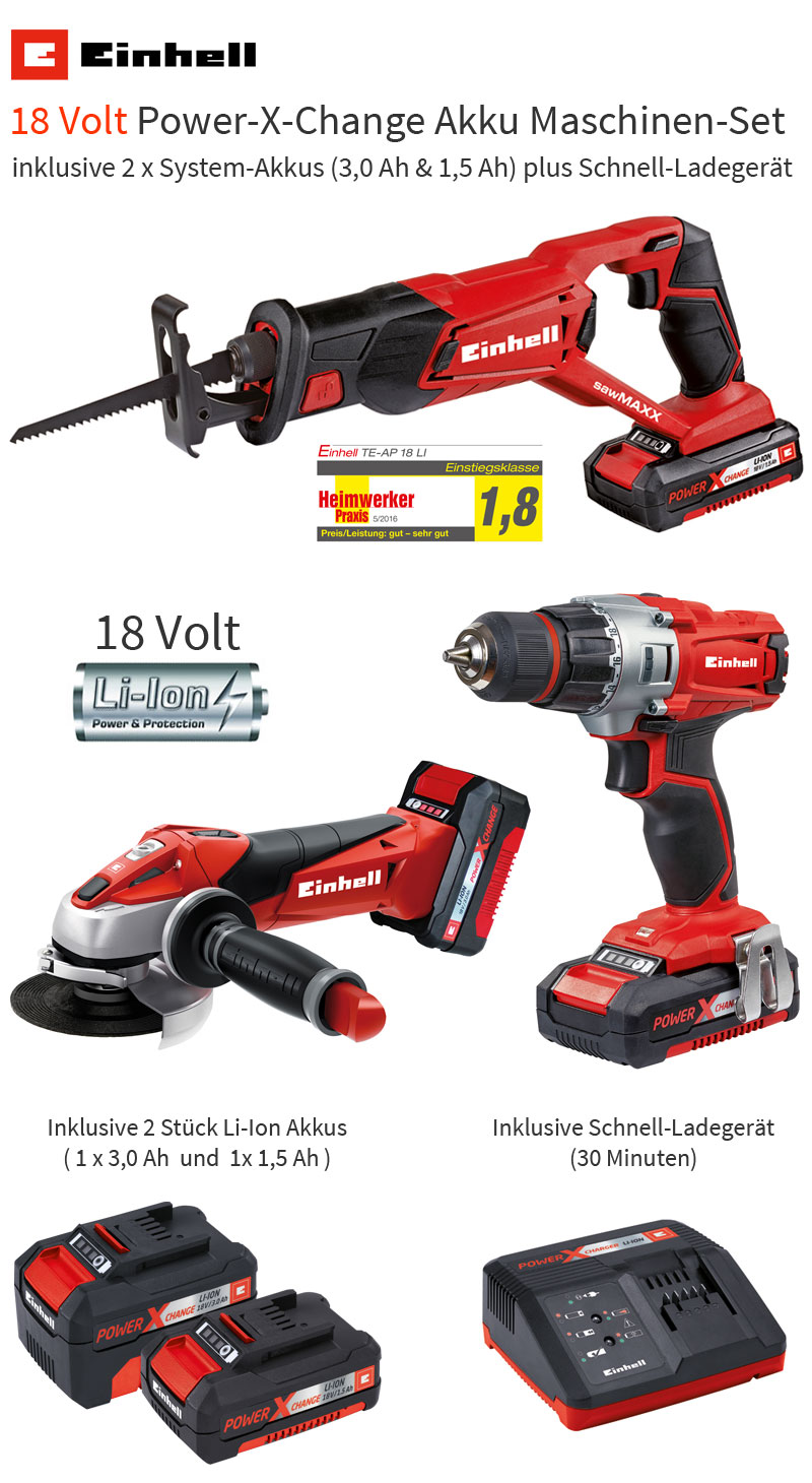 einhell 18 volt power x change werkzeug akkuschrauber winkelschleifer s bels ge ebay. Black Bedroom Furniture Sets. Home Design Ideas