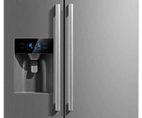 Side By Side Kühlschrank Crushed Ice : Hausmarke hm11898 side by side kühl gefrierkombination mit eis und