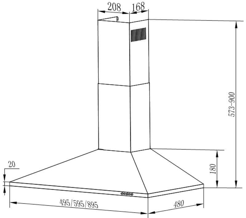60cm edelstahl dunstabzugshaube kamin haube wand esse 2 kohlefilter ab umluft ebay. Black Bedroom Furniture Sets. Home Design Ideas