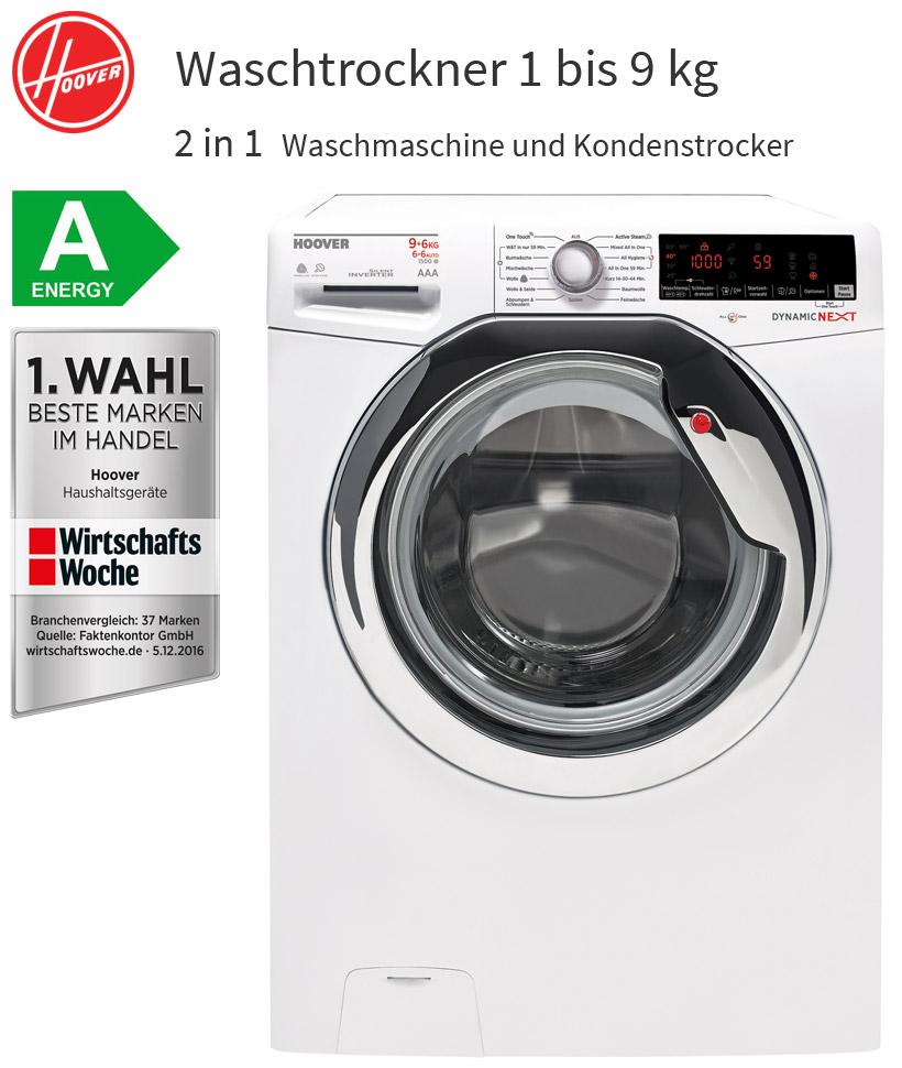 hoover 9 6 kg waschtrockner 2in1 9 kg waschmaschine 6 kg w schetrockner neu ebay. Black Bedroom Furniture Sets. Home Design Ideas