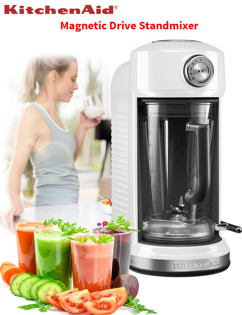 kitchenaid classic magnetic drive blender stand mixer k chenmaschine 1300 w wei ebay. Black Bedroom Furniture Sets. Home Design Ideas