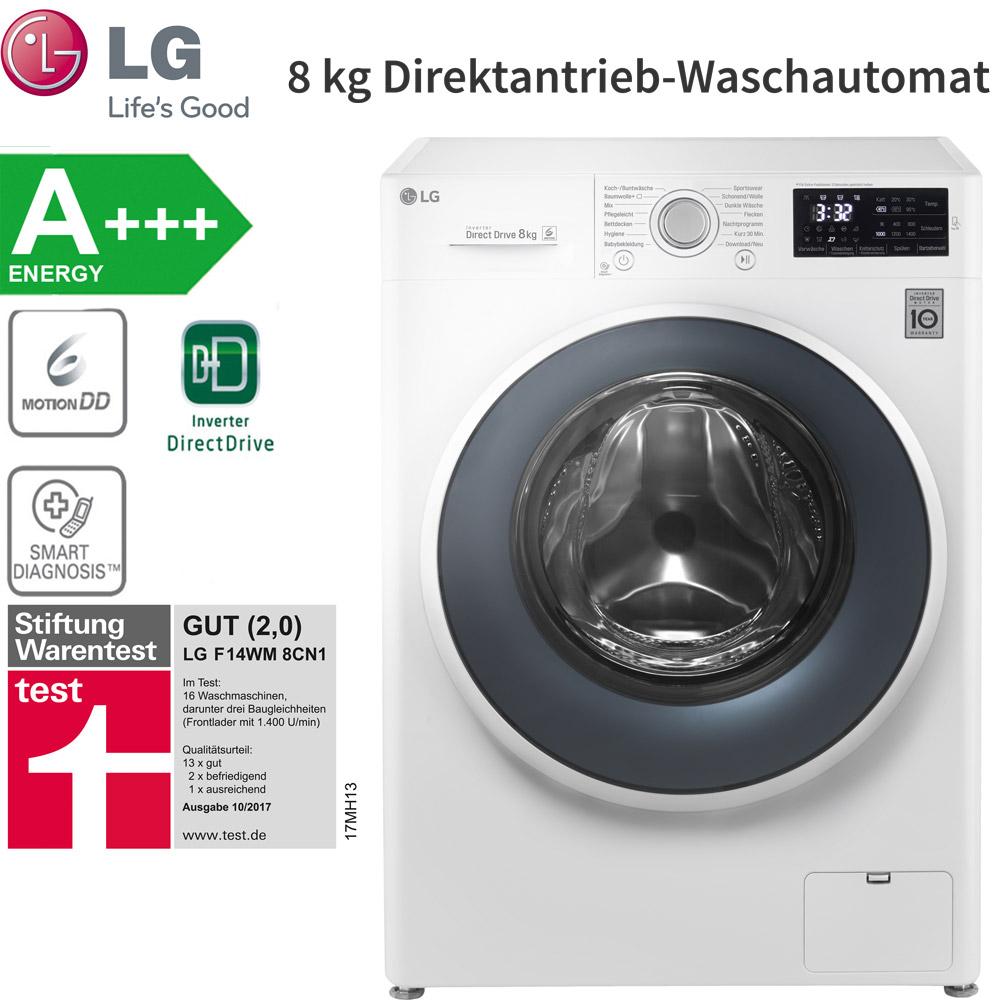 lg a f14wm8cn1 direktantrieb waschmaschine 8 kg waschautomat aquastop nfc neu ebay. Black Bedroom Furniture Sets. Home Design Ideas