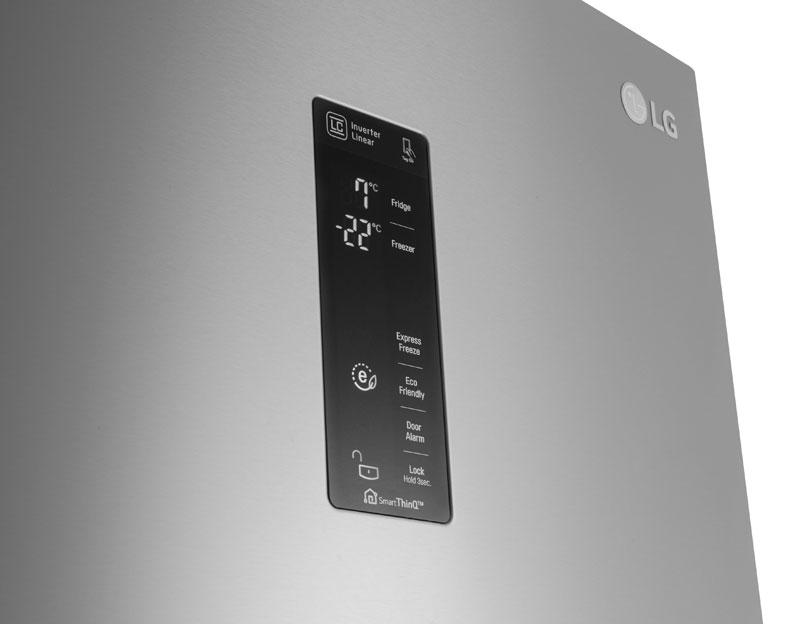 Kühlschrank Xxl Edelstahl : Lg cm xxl a no frost stand kühl gefrierkombination