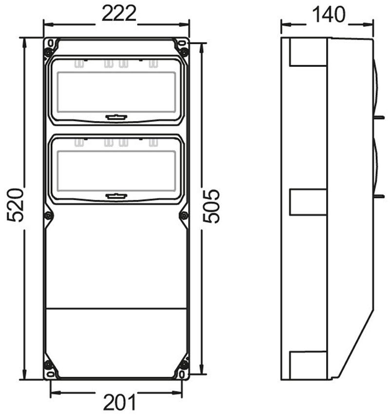 pce wandverteiler 1x32 5 1x16 5 3xssd baustrom steckdosen. Black Bedroom Furniture Sets. Home Design Ideas