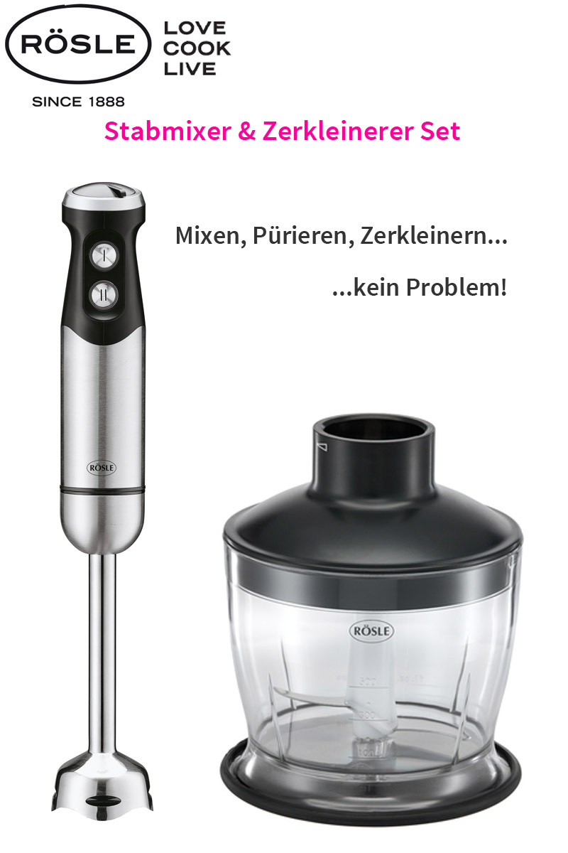 r sle set edelstahl mix stab mixer zerkleinerer p rierstab handmixer 800 watt ebay. Black Bedroom Furniture Sets. Home Design Ideas