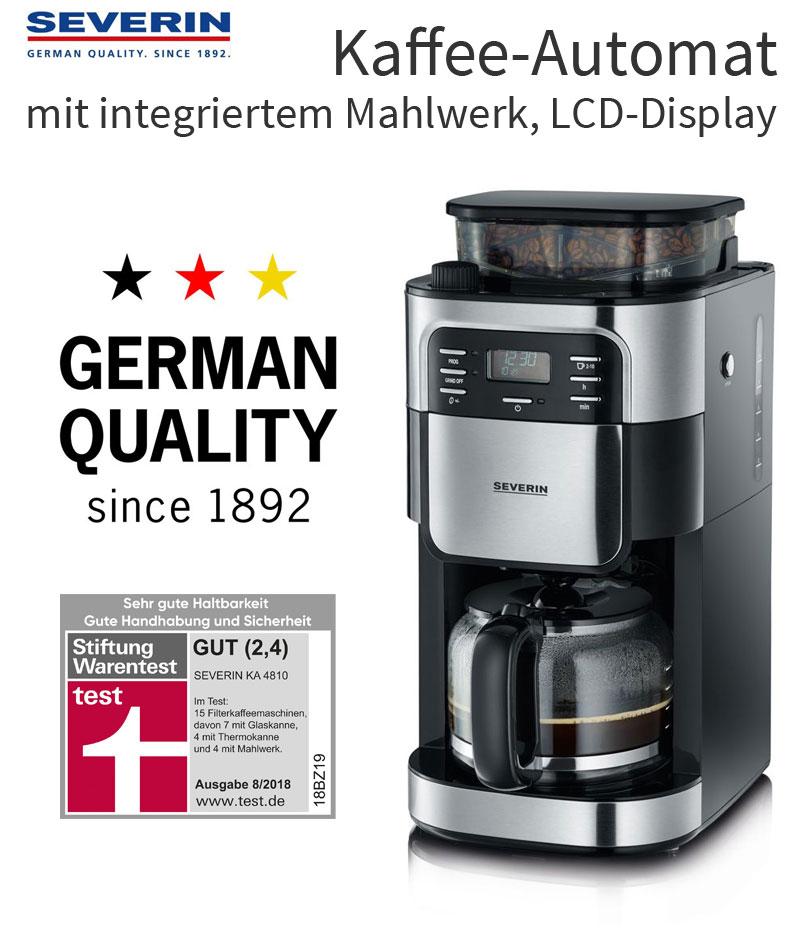 Kaffeemaschine Kaffeeautomat Filterkaffeemaschine mit Mahlwerk Timer Severin WOW