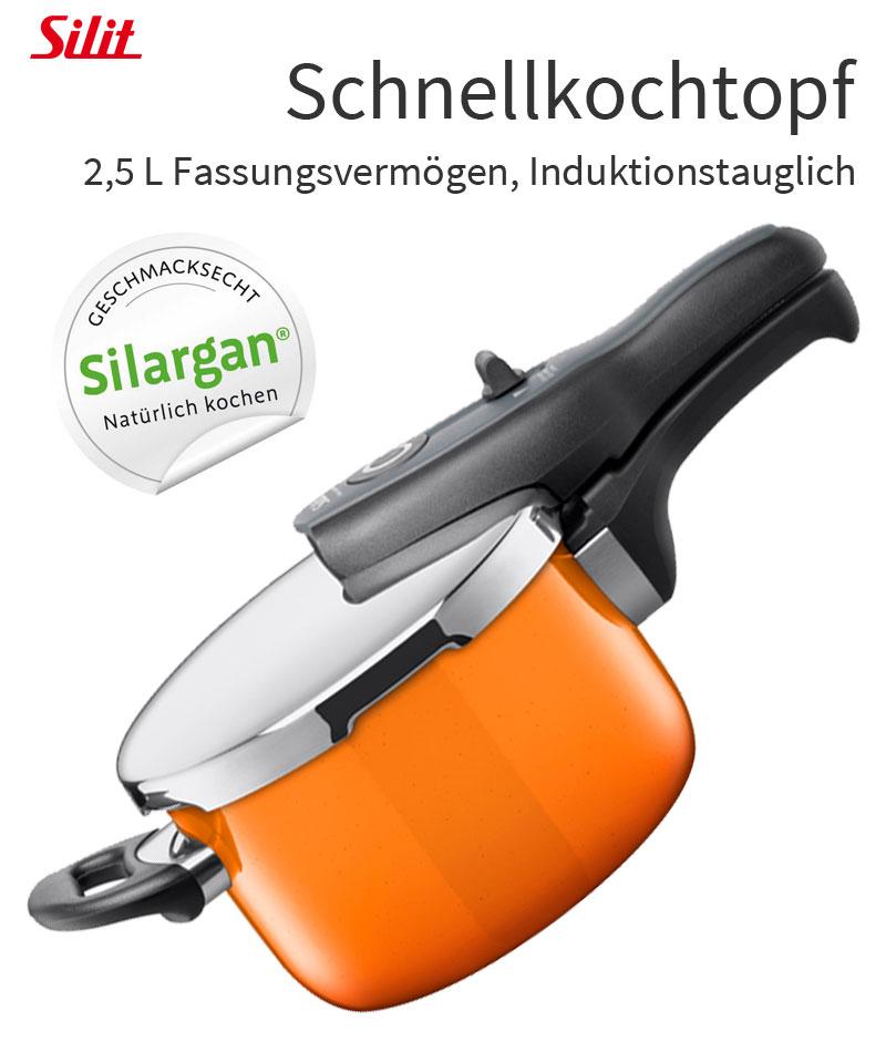 Silit Silargan® Schnellkochtopf Dampfkocher Dampfgarer
